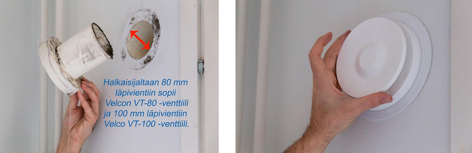 VT-80 Fresh venttilin tilalle